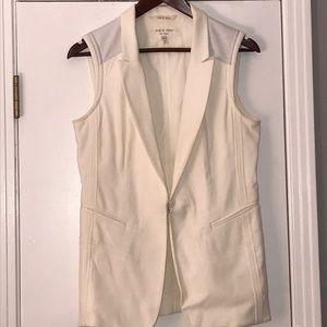 Rag & Bone Winter white lamb-leather Vest